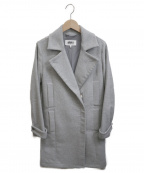 MM6 Maison Margiela()の古着「フロントジップチェスターコート」 グレー