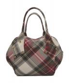 Vivienne Westwood(ヴィヴィアンウエストウッド)の古着「ハンドバッグ」|ホワイト×ピンク