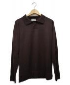 JOHN SMEDLEY×MARGARET HOWELL(ジョン スメドレー×マーガレットハウエル)の古着「ニットポロシャツ」|ブラウン