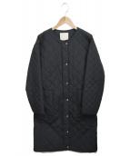 自由区(ジユウク)の古着「中綿ノーカラーキルティングコート」|ブラック