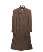FENDI(フェンディ)の古着「スタンドカラーコート」|ブラウン