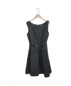JILL STUART(ジルスチュアート)の古着「ジョージアジャガードドレス」|ブラック
