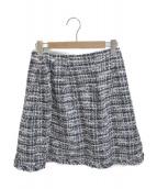 TOCCA(トッカ)の古着「ツイードスカート」 ネイビー