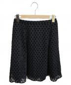 TOCCA(トッカ)の古着「フロッキーフラワースカート」|ブラック