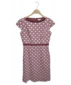 TOCCA(トッカ)の古着「フラワー刺繍ワンピース」 レッド