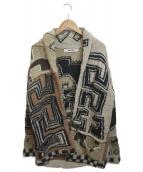 KAPITAL(キャピタル)の古着「モヘア混ニットジャケット」|ブラック×ベージュ