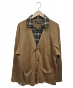 elephant TRIBAL fabrics(エレファントトライバルファブリックス)の古着「レイヤードカーディガン」|ブラウン