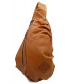 Herz(ヘルツ)の古着「レザーボディーバッグ」 ブラウン