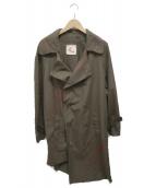 BOND VAULT(ボンド)の古着「ペンキ加工コート」 カーキ