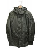 BLACK LABEL CRESTBRIDGE(ブラックレーベルクレストブリッジ)の古着「フーデッドコート」 カーキ