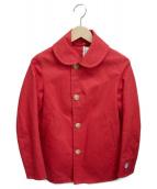 ORCIVAL(オーシバル)の古着「丸襟コート」 レッド