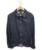 ORGUEIL(オルゲイユ)の古着「デニムサックジャケット」 ブルー
