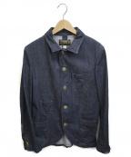 ORGUEIL(オルゲイユ)の古着「デニムサックジャケット」|ブルー