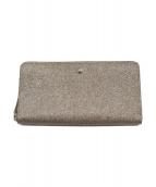 ()の古着「ラウンドファスナー財布」|ゴールド