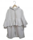 YORI()の古着「フレアフーデットコート」|グレー