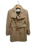 BURBERRY BRIT(バーバリーブリット)の古着「カシミヤ混ダブルコート」|キャメル