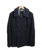 Denham()の古着「ウールコート」 ネイビー