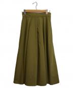 Lois CRAYON(ロイスクレヨン)の古着「ナイロンロングヘムスカート」|カーキ