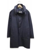()の古着「ゴム引きコート」|ブルー