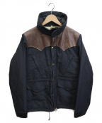 RockyMountainFeatherBed()の古着「ウィンドストッパーレザーヨークジャケット」 ブラック