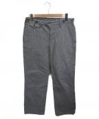 ORGUEIL(オルゲイユ)の古着「Work Stripe Trousers」|グレー