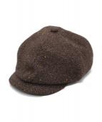 ORGUEIL(オルゲイユ)の古着「ウールキャスケット」|ブラウン