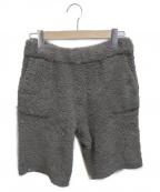 barefoot dreams(ベアフットドリームス)の古着「パイルハーフパンツ」|グレー
