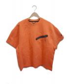 NIKE(ナイキ)の古着「テックフリースバックプリントTシャツ」|オレンジ