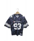 ()の古着「フットボールTシャツ」|ネイビー