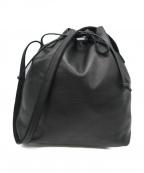 hobo(ホーボー)の古着「巾着型ショルダーバッグ」|ブラック