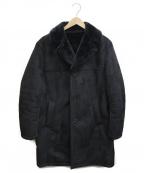 MENS BIGI(メンズビギ)の古着「フェイクムートン×シームレスダウンコート」|ブラック