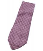 ()の古着「GG柄ネクタイ」|ピンク