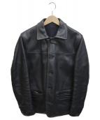BEAMS PLUS(ビームスプラス)の古着「レザーカーコート」|ブラック