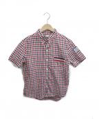 MONCLER GAMME BLEU(モンクレール ガム ブルー)の古着「チェックシャツ」|レッド×ネイビー