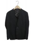 RAINMAKER(レインメーカー)の古着「ノーカラーアンコンジャケット」|ブラック