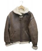 AVIREX(アヴィレックス)の古着「B-3 シープスキンムートンフライト ジャケット」|ブラウン
