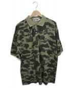 ()の古着「1stカモビッグシルエットポロシャツ」|グリーン