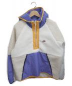 NIKE(ナイキ)の古着「ボアフリースプルオーバー」|ホワイト×ブルー