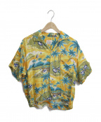 Sears(シアーズ)の古着「[古着]ヴィンテージアロハシャツ」|オレンジ