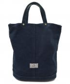 革蛸謹製(カワタコキンセイ)の古着「布袋のショルダーバッグ」|ネイビー