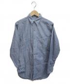US NAVY(ユーエスネイビー)の古着「[OLD]ヴィンテージシャンブレーシャツ」|インディゴ