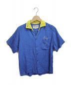 ()の古着「ボーリングシャツ」 ブルー