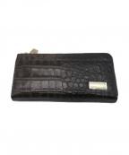 LEATHER JEWELS(レザージュエルズ)の古着「型押しレザー財布」 ブラック