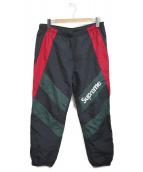 Supreme(シュプリーム)の古着「Paneled Track Pant」|ブラック×グリーン