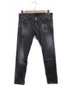 DSQUARED2(ディースクエアード)の古着「デニムパンツ」|ブラック