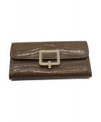 BALLY(バリー)の古着「クロコ型押長財布」|ブラウン