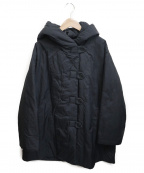 YACCO MARICARD(ヤッコマリカルド)の古着「フーデット中綿コート」|ブラック