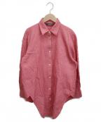 YACCO MARICARD(ヤッコマリカルド)の古着「バンドカラーシャツ」|ピンク