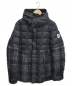 MONCLER GAMME BLEU(モンクレール ガム ブルー)の古着「切替ダウンジャケット」|ブラック