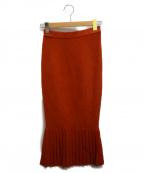 eimy istoire(エイミーイストワール)の古着「プリーツニットマーメイドスカート」 オレンジ